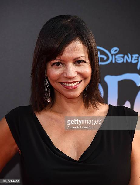 Actress Gloria Reuben arrives at the premiere of Disney's The BFG at the El Capitan Theatre on June 21 2016 in Hollywood California