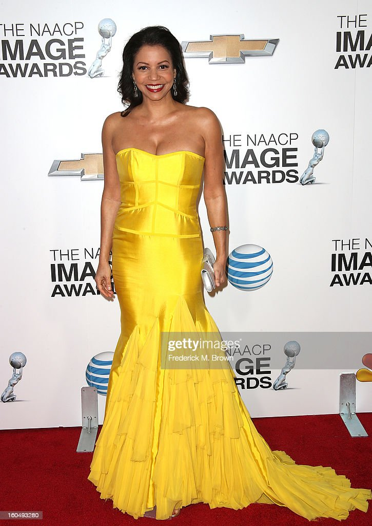 Actress Gloria Reuben attends the 44th NAACP Image Awards at The Shrine Auditorium on February 1, 2013 in Los Angeles, California.