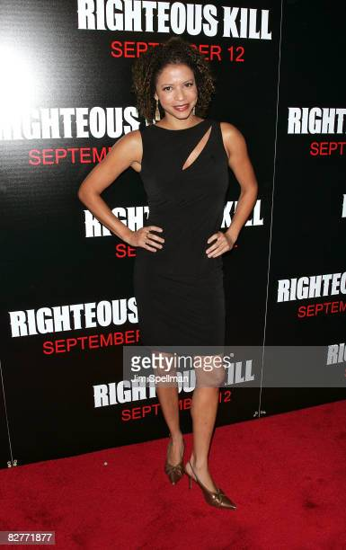Actress Gloria Reuben attends the New York premiere of 'Righteous Kill' at the Ziegfeld Theater on September 10 2008 in New York City