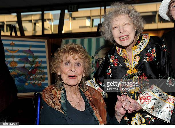 Actress Gloria Stuart and actress Carla Laemmle attend the Centennial Celebration with Gloria Stuart held at the Academy of Motion Picture Arts and...
