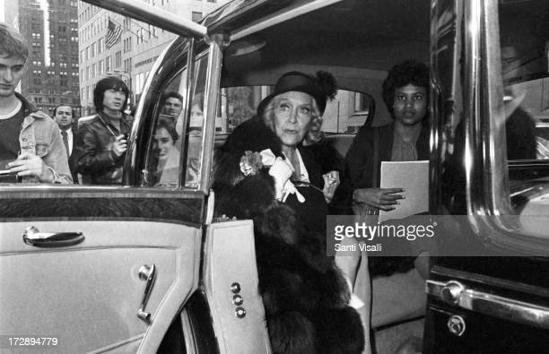 Actress Gloria Swanson inside her Rolls Royce on October 101980 in New York New York