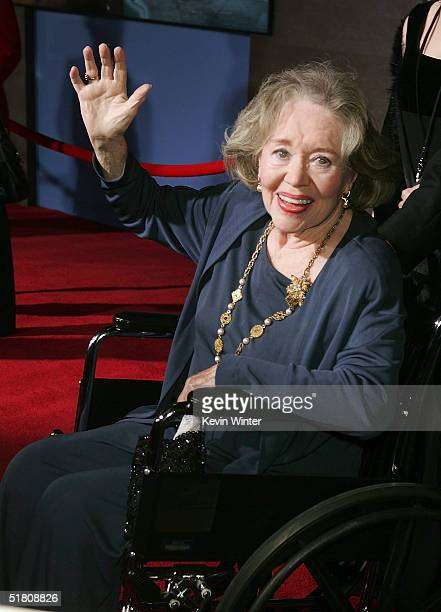 Actress Glynis Johns arrives at Disney's Mary Poppins 40th Anniversary Edition DVD release party at El Capitan Theater on Novenber 30 2004 in Los...