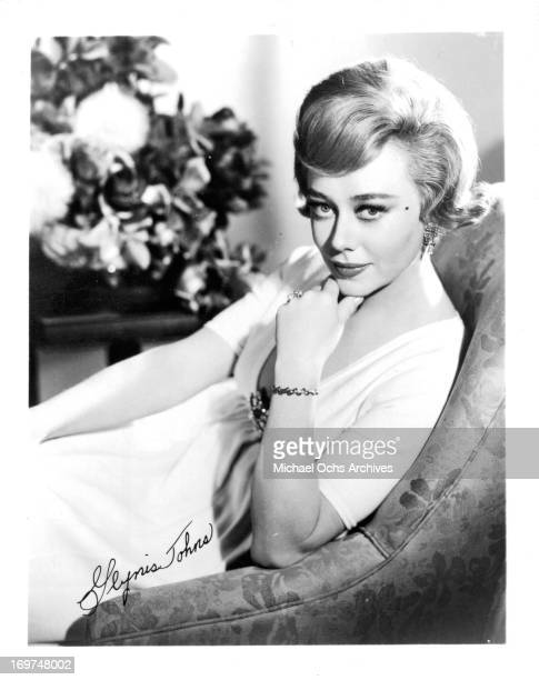 Actress Glynis Johns poses for a portrait in circa 1963