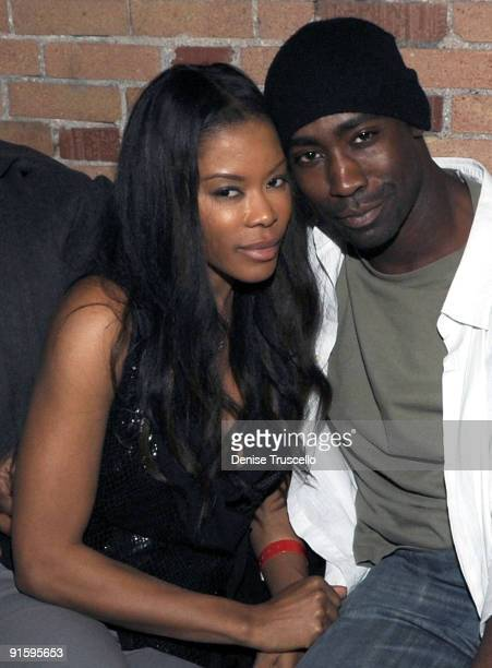 Actress Golden Brooks and actor DB Woodside at Island Def Jam's 25/50 at the House of Hype Ultra Lounge on January 17 2009 in Park City Utah