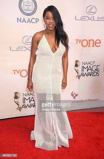 Actress Golden Brooks arrives at the 46th Annual NAACP Image Awards at the Pasadena Civic Auditorium on February 6 2015 in Pasadena California