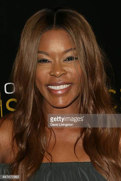 Actress Golden Brooks arrives at the Launch of OUE Skyspace LA at the US Bank Tower on July 14 2016 in Los Angeles California