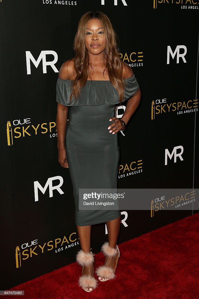 Actress Golden Brooks arrives at the Launch of OUE Skyspace LA at the U.S. Bank Tower on July 14, 2016 in Los Angeles, California.