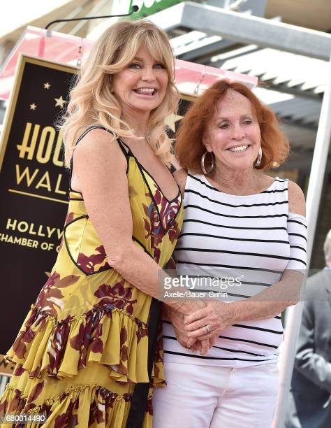 Actress Goldie Hawn and sister Patti Hawn attend the ceremony honoring Goldie Hawn and Kurt Russell with double star ceremony on the Hollywood Walk...