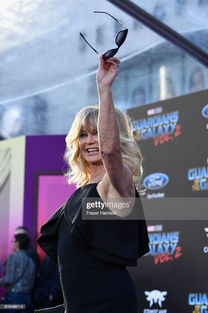 Actress Goldie Hawn arrives at the premiere of Disney and Marvel's 'Guardians Of The Galaxy Vol. 2' at Dolby Theatre on April 19, 2017 in Hollywood, California.