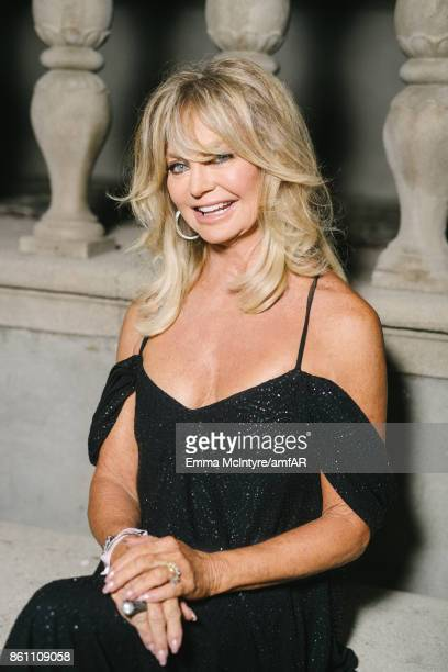 Actress Goldie Hawn attends the amfAR Gala Los Angeles 2017 at Ron Burkle's Green Acres Estate on October 13 2017 in Beverly Hills California