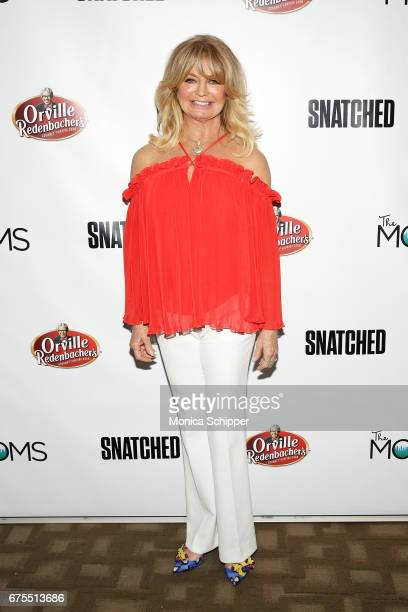 Actress Goldie Hawn attends The MOMS In Conversation With Amy Schumer And Goldie Hawn at Park Avenue Screening Room on May 1 2017 in New York City