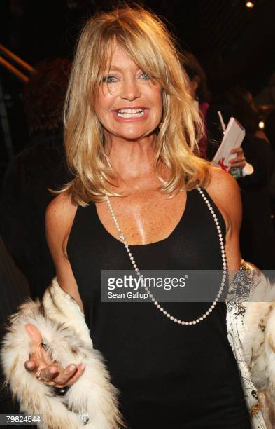 Actress Goldie Hawn attends the Opening Ceremony as part of the 58th Berlinale Film Festival at the Berlinale Palast on February 7, 2008 in Berlin,...