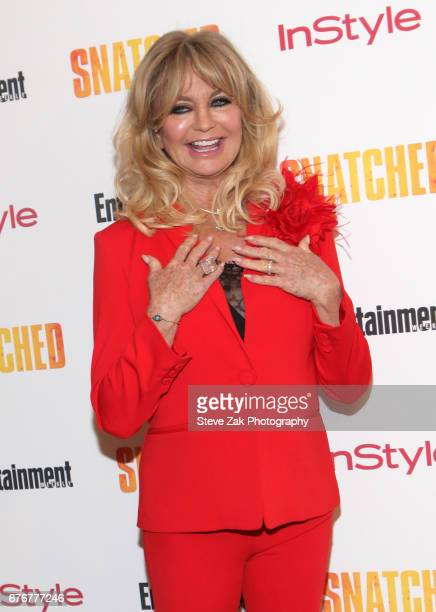 Actress Goldie Hawn attends the 'Snatched' New York Premiere at the Whitby Hotel on May 2 2017 in New York City