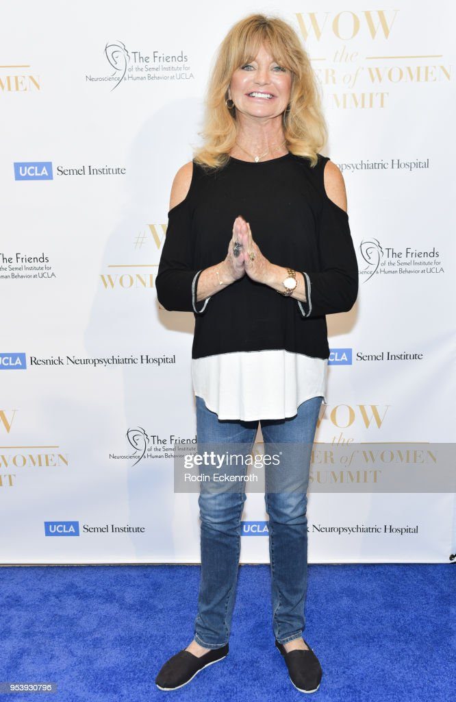 Actress Goldie Hawn attends The Wonder of Women Summit at UCLA on May 2, 2018 in Los Angeles, California.