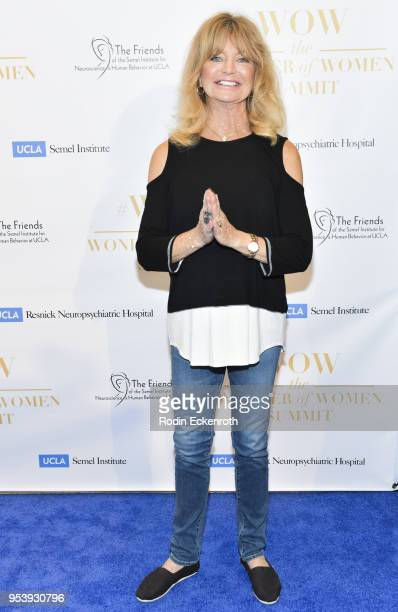 Actress Goldie Hawn attends The Wonder of Women Summit at UCLA on May 2 2018 in Los Angeles California
