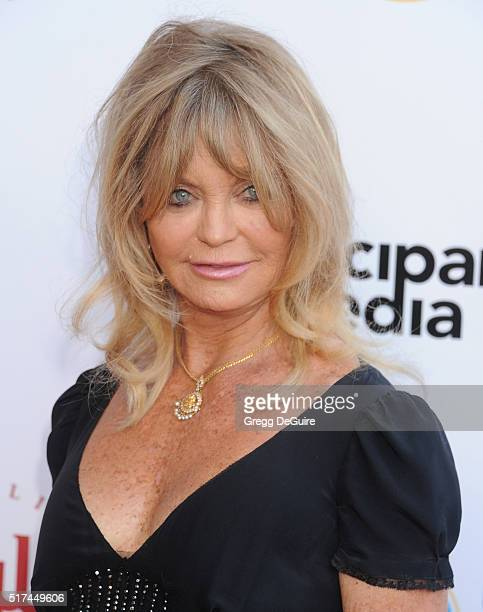 Actress Goldie Hawn attends UCLA Institute of the Environment and Sustainability celebration of the Champions Of Our Planet's Future on March 24 2016...