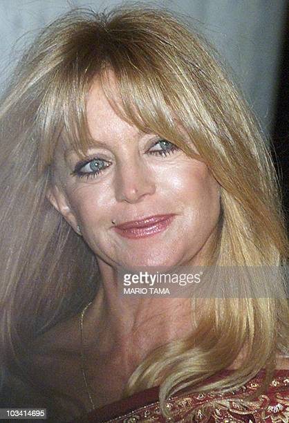 Actress Goldie Hawn enters The Plaza hotel to attend the wedding of Michael Douglas and Catherine ZetaJones 18 November 2000 in New York Guests...
