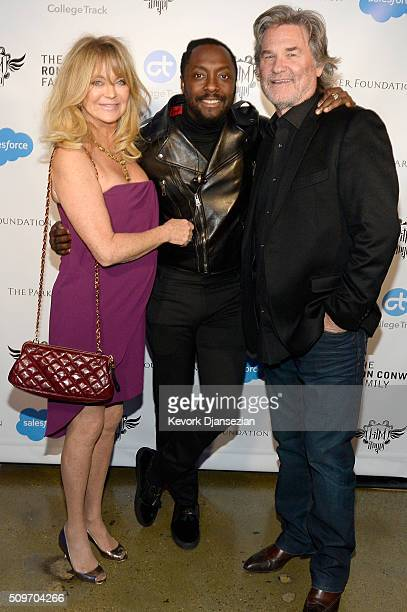 Actress Goldie Hawn host william and actor Kurt Russell attend william's iamangel Foundation TRANS4M 2016 Gala at Milk Studios on February 11 2016 in...