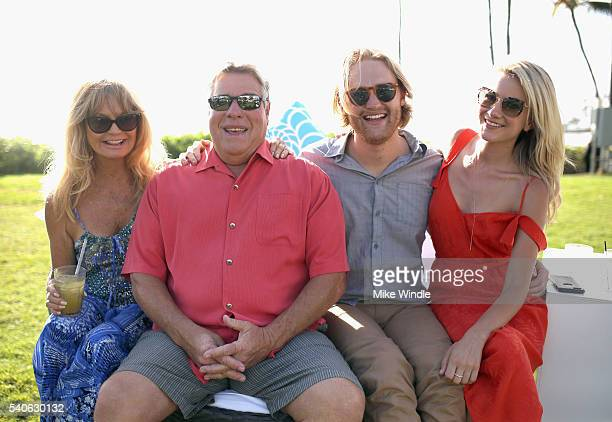 Actress Goldie Hawn Maui Film Festival Director Barry Rivers actor Wyatt Russell recipient of the 2016 Maui Film Festival Rising Star Award in Wailea...