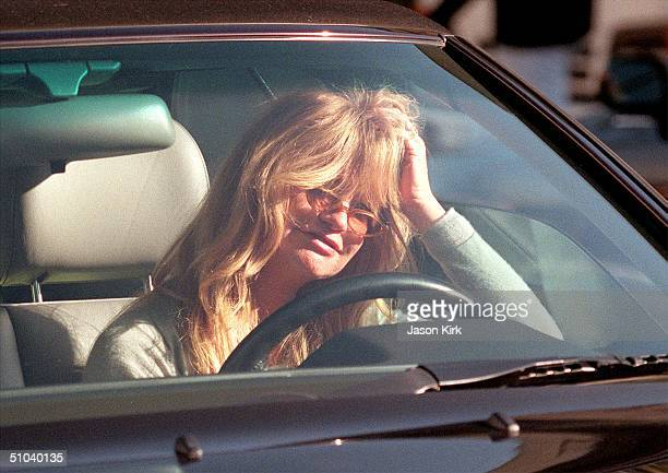 Actress Goldie Hawn Prepares To Drive Away After A Day Spent Christmas Shopping December 14 2000 In Beverly Hills Ca