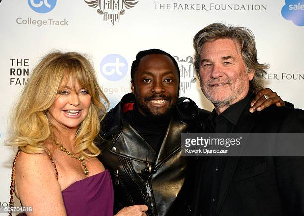 Actress Goldie Hawn william and actor Kurt Russell attend william's iamangel Foundation TRANS4M 2016 Gala at Milk Studios on February 11 2016 in...