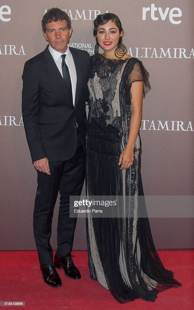 Actress Golshifteh Farahani and actor Antonio Banderas attend 'Altamira' premiere at Callao cinema on March 31, 2016 in Madrid, Spain.