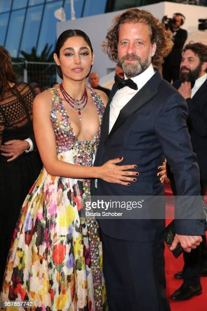 Actress Golshifteh Farahani and Christos Walker attend the screening of 'Girls Of The Sun ' during the 71st annual Cannes Film Festival at Palais des...