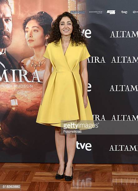 Actress Golshifteh Farahani attends a photocall for 'Altamira' at the Palace Hotel on March 31 2016 in Madrid Spain