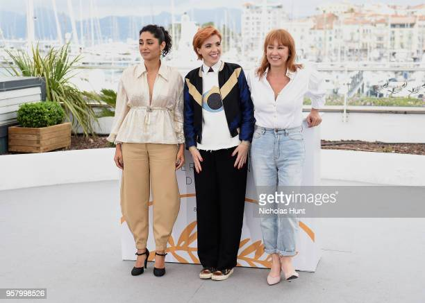 Actress Golshifteh Farahani director Eva Husson and actress Emmanuelle Bercot attends the photocall for 'Girls Of The Sun ' during the 71st annual...