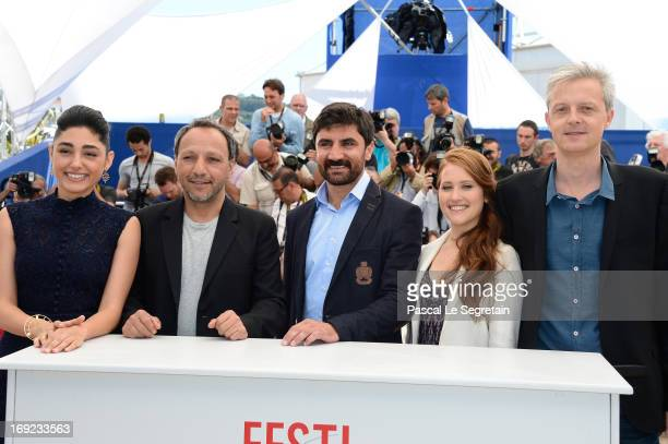 Actress Golshifteh Farahani director Hiner Saleem actor Korkmaz Arslan actress Veronique Wuthrich and producer Marc Bordure attends the 'My Sweet...