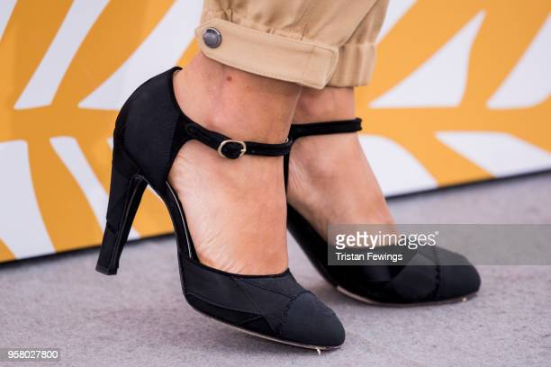 Actress Golshifteh Farahani fashion detail attends the photocall for 'Girls Of The Sun ' during the 71st annual Cannes Film Festival at Palais des...