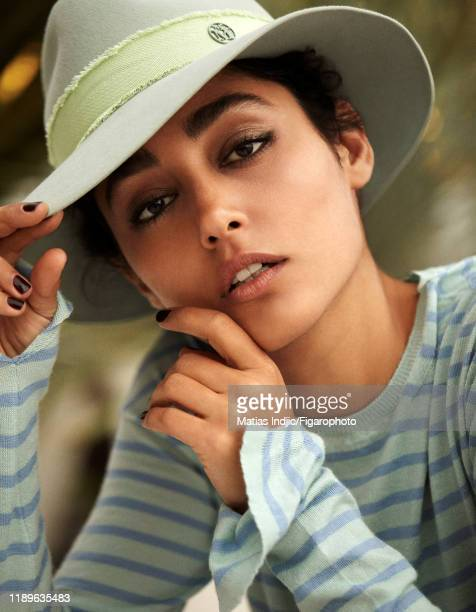 Actress Golshifteh Farahani is photographed for Madame Figaro on May 14 2018 in Cannes France Shirt and hat by Maison Michel CREDIT MUST READ Matias...