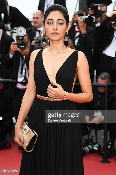 Actress Golshifteh Farahani leaves the Paterson premiere during the 69th annual Cannes Film Festival at the Palais des Festivals on May 16 2016 in...