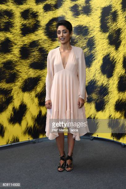 Actress Golshifteh Farahani poses during the 'The Song of Scorpions' photocall at the 70th Locarno Film Festival on August 9 2017 in Locarno...