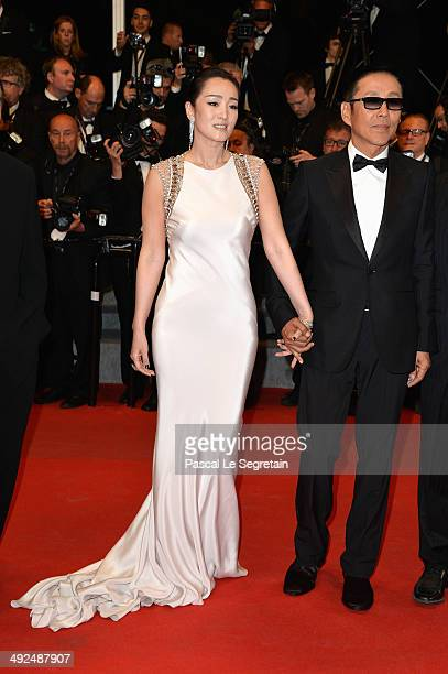 Actress Gong Li and actor Chen Daoming attend the Gui Lai premiere during the 67th Annual Cannes Film Festival on May 20 2014 in Cannes France