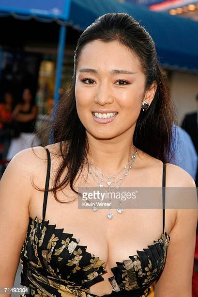 Actress Gong Li arrives at the Universal Pictures premiere of 'Miami Vice' held at the Mann's Village Theatre on July 20 2006 in Westwood California