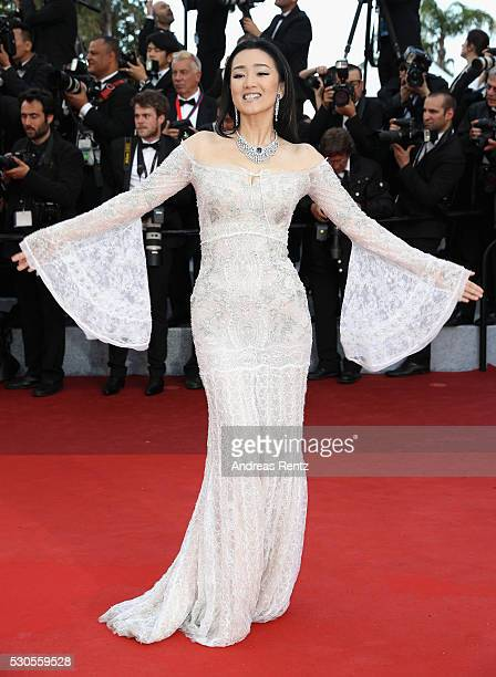 Actress Gong Li attends the 'Cafe Society' premiere and the Opening Night Gala during the 69th annual Cannes Film Festival at the Palais des...
