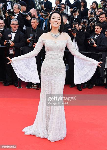 Actress Gong Li attends the screening of 'Cafe Society' at the opening gala of the annual 69th Cannes Film Festival at Palais des Festivals on May 11...