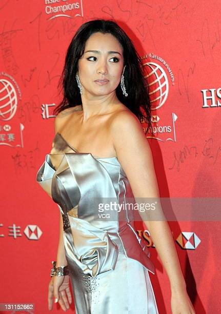 Actress Gong Li attends WGCHSBC Golf Champions 2011 welcoming reception at Bund source on November 1 2011 in Shanghai China