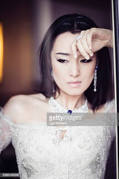 Actress Gong Li is photographed for Gala on May 15 2016 in Cannes France