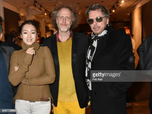 Actress Gong Li, Technikart magazine publisher Fabrice de Rohan Chabot and Musician Jean Michel Jarre attend the Urban Anthology and Design Preview...