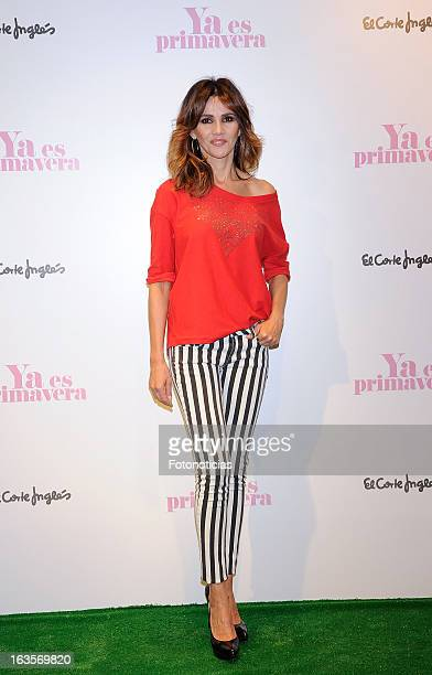 Actress Goya Toledo attends a photocall for El Corte Ingles Spring Campaign Launching 2013 at El Corte Ingles Castellana on March 12 2013 in Madrid...