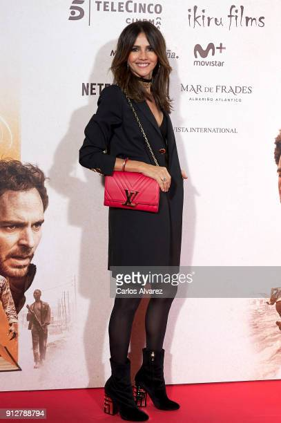 Actress Goya Toledo attends 'El Cuaderno De Sara' premiere at the Capitol cinema on January 31 2018 in Madrid Spain