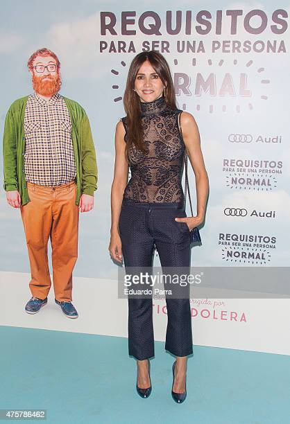 Actress Goya Toledo attends 'Requisitos para ser una persona normal' premiere at Palafox cinema on June 3 2015 in Madrid Spain