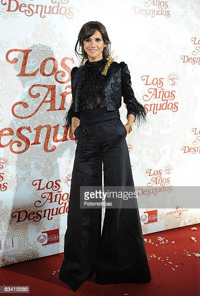 Actress Goya Toledo attends the 'Los Aos Desnudos' premiere at the Capitol Cinema on October 23 2008 in Madrid Spain