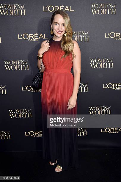 Actress Grace Atwood attends the L'Oreal Paris Women of Worth Celebration 2016 Arrivals on November 16 2016 in New York City
