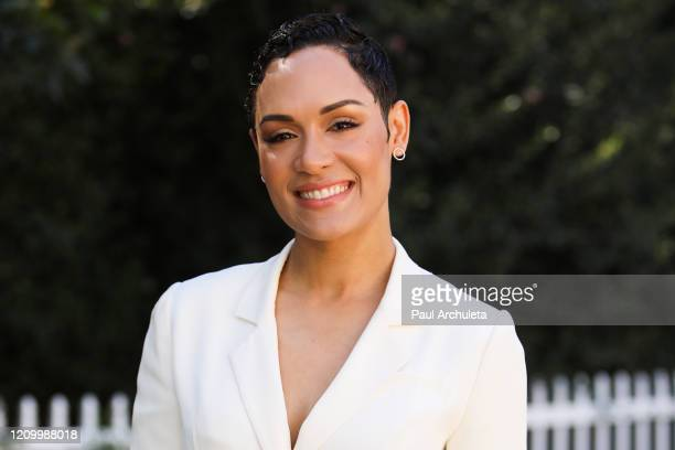 """Actress Grace Byers visits Hallmark Channel's """"Home & Family"""" at Universal Studios Hollywood on March 02, 2020 in Universal City, California."""