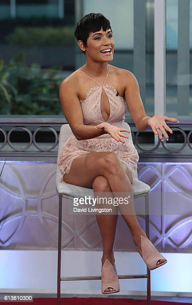 Actress Grace Byers visits Hollywood Today Live at W Hollywood on October 10, 2016 in Hollywood, California.