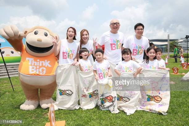 Actress Grace Chan and Ying Tung Group Vice-President Kenneth Fok Kai-kong attend a press conference of TVB's 'Think Big Jumping Day' activity on...