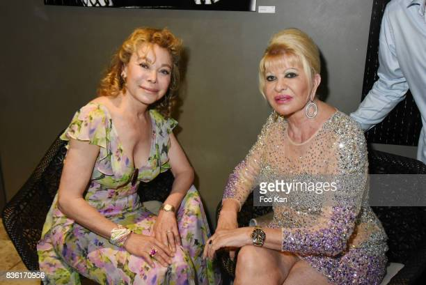 Actress Grace de Capitani and Ivana Trump attend the Massimo Birthday Party at Hotel de Paris As Part of SaintTropez Party On French Riviera on...